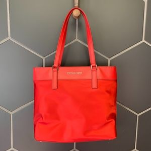Michael Kors Morgan Purse Carry On Tote Chili Red
